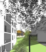 ser-es1-a-scenario1b - 3d view - vue 6 - entre collectif et maisons bas